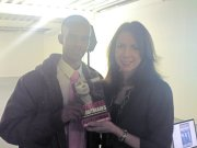 Guul Group CEO with Rachel Elnaugh from BBC Dragon's Den